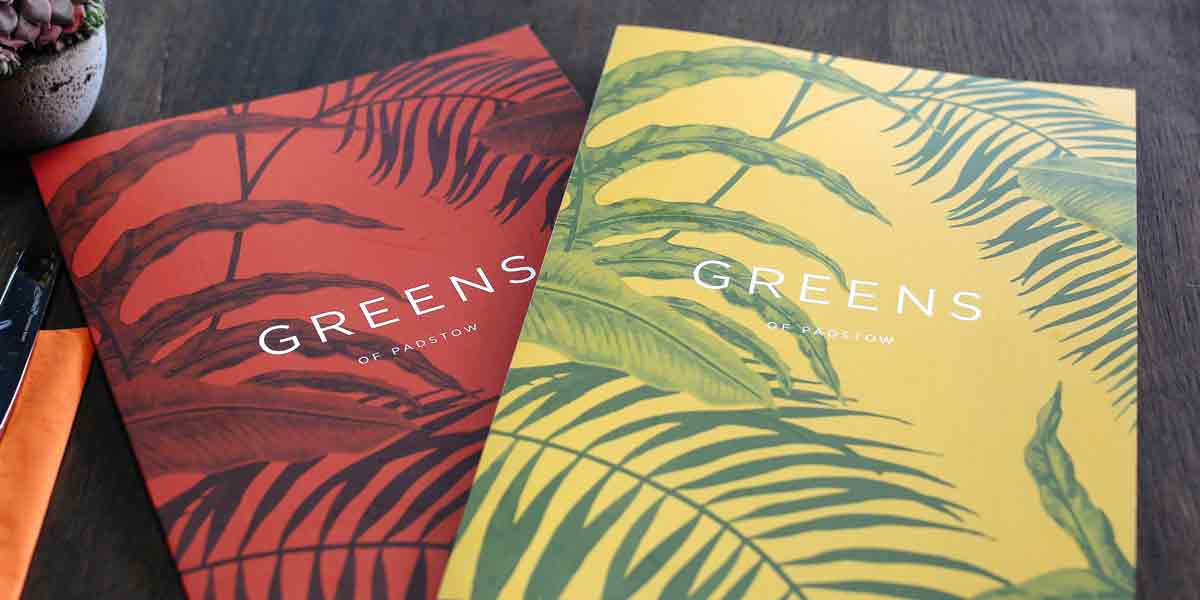 Greens Of Padstow Menus