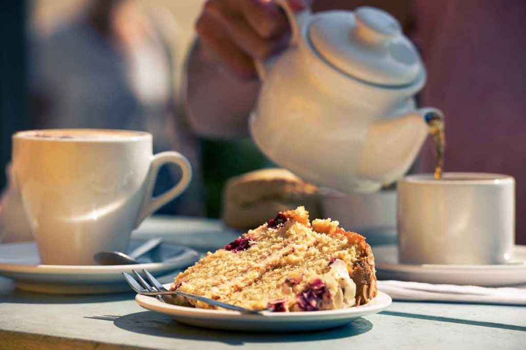 Tea and Cake at Greens Of Padstow