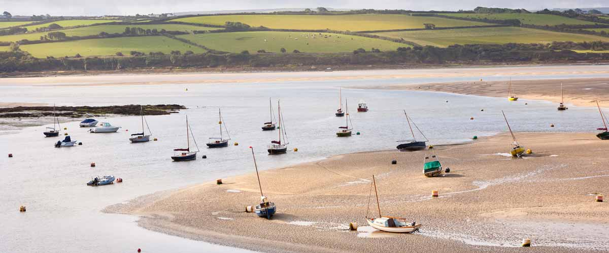 View of the Camel Estuary