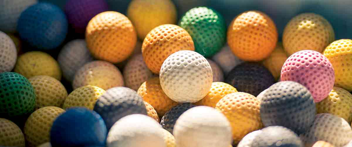 Mini Golf Balls at Greens Of Padstow