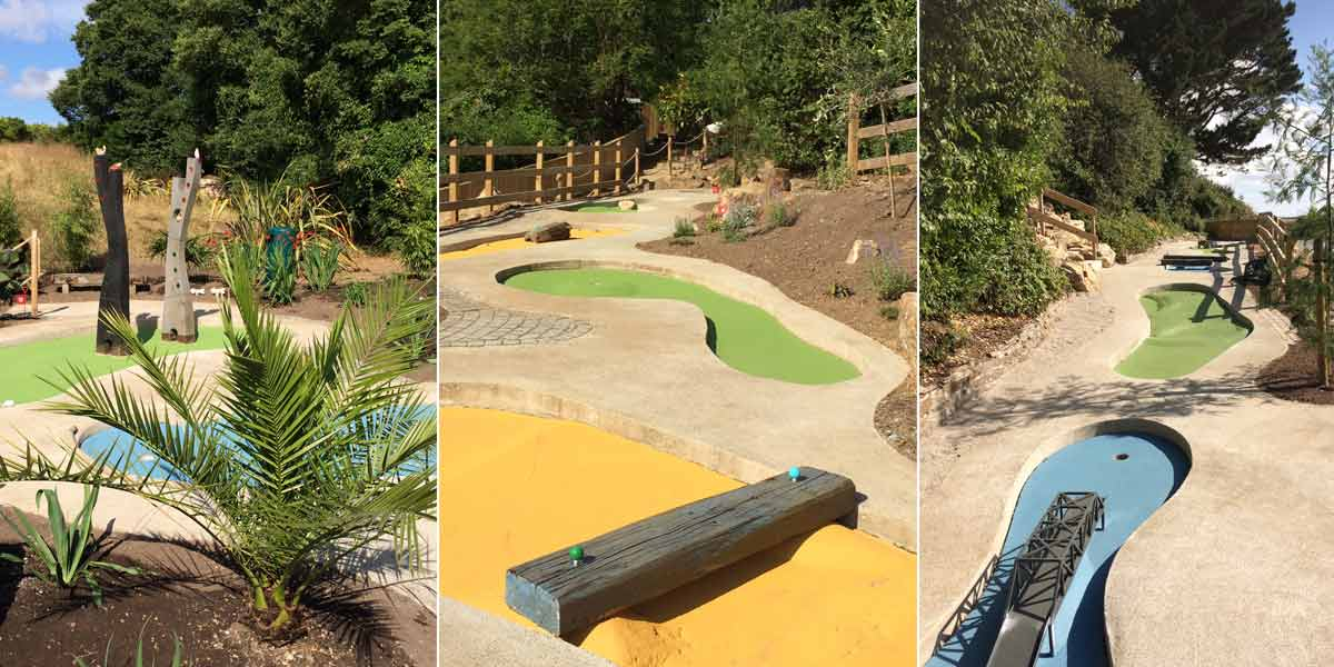 mini golf at Greens of Padstow