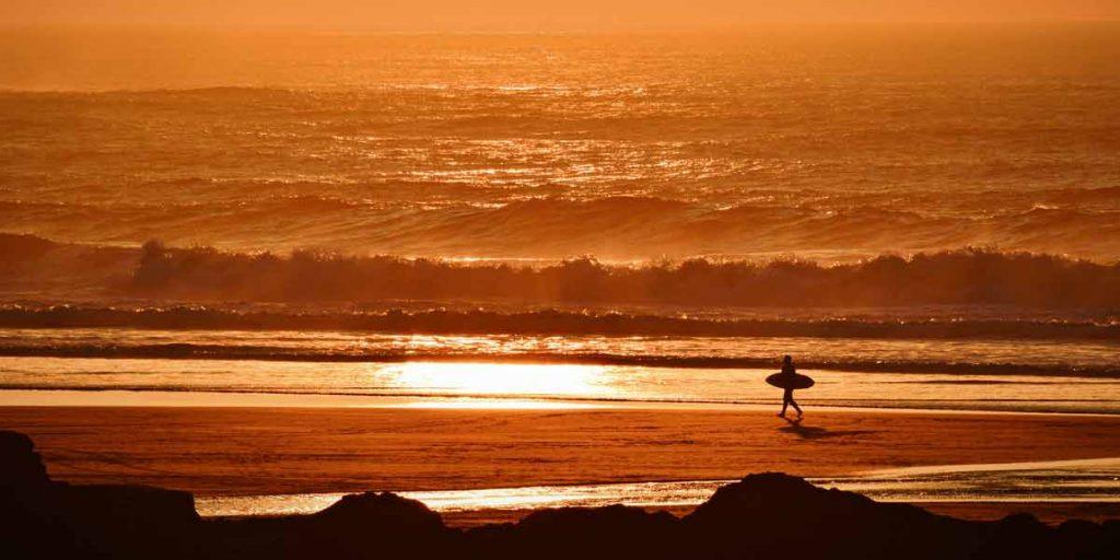Cornish Beach in Golden Sunshine