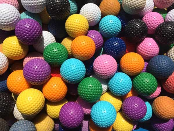 mini golf balls