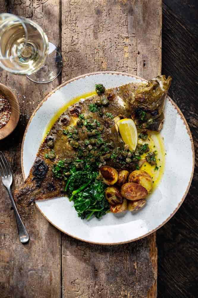 Fish dish at Greens