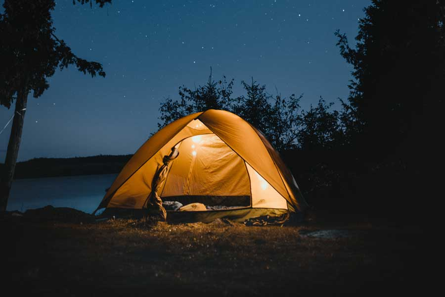 Camping under the stars in Cornwall